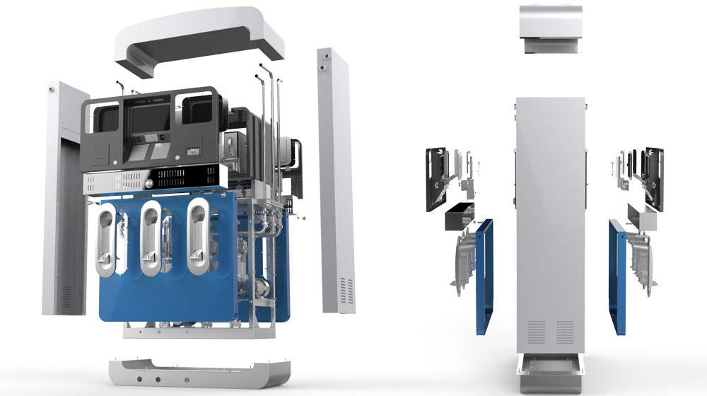 贝林自助式加油机结构设计